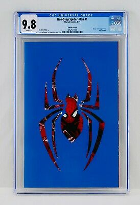 £54.84 • Buy Non-Stop Spider-Man #1 CGC 9.8 White Pages Die-Cut Cover Variant Edition NM/MT