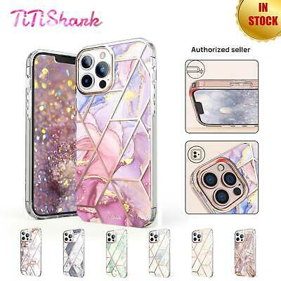 AU13.99 • Buy For IPhone 13 Pro Max Case Clear Marble Cute Glitter Shockproof Hard Cover