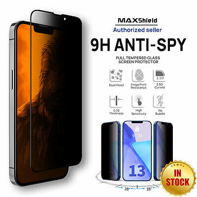 AU8.99 • Buy 2x Anti-Spy Privacy Screen Protector For IPhone 13 Pro Max Full Tempered Glass
