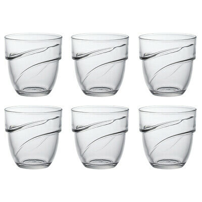 £12.60 • Buy Duralex Set Of 6 Wave Stacking Tumblers, 27cl Traditional Water Drinks Glasses