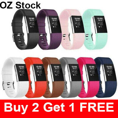 AU3.95 • Buy Silicone Watch Wrist Sports Strap For Fitbit Charge 2 Band Wristband Replacement