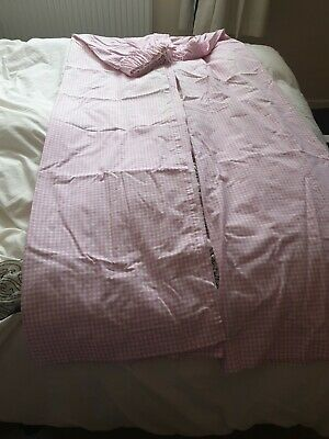 £4.50 • Buy PINK WHITE GINGHAM  FABRIC LONG CURTAINS SOME FADING 68 X64 Approx