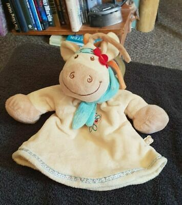 £12.99 • Buy Noukie's Cow Horse Baby Puppet Comforter Blanket Soft Plush Toy 8