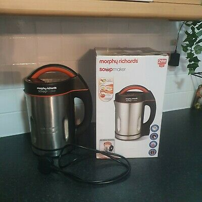 £29.99 • Buy Morphy Richards 48822 1.6L Stainless Steel Soup Maker Smoothie Blender Boxed