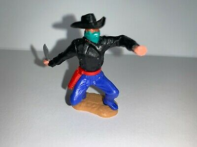 £16 • Buy Timpo 1970s Cowboy Masked Bandit Black Stetson And Green Mask Great Hold Up Set