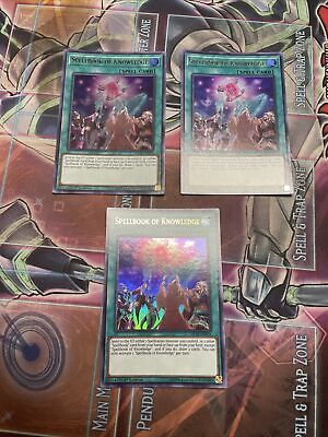 AU8.97 • Buy Yugioh! Spellbook Of Knowledge MP18 X3 Playset Ultra Rare 1st Edition VLP/NM