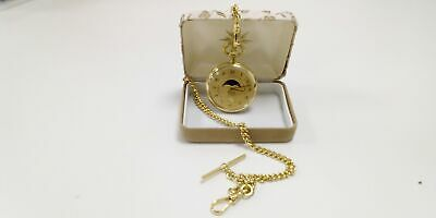 £10.50 • Buy Beautiful Moon And Stars Pocket Watch Gold Coloured Case Gold Coloured#291