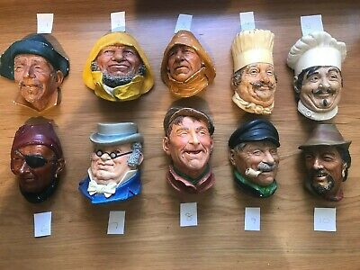 £10 • Buy 1 Vintage Bossons Chalk Ware Head (not All 10)
