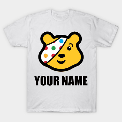 £6.99 • Buy Personalised T Shirt For Children In Need Fans Charity Pudsey Kids Boys