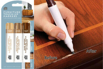 £2.49 • Buy 3 X Furniture Scratches Repair Kit Markers Touch Up Pen Paint Restore Wood Floor