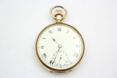 £25 • Buy Vintage Gents Rolled Gold Open Face POCKET WATCH Hand-Wind WORKING (91g)