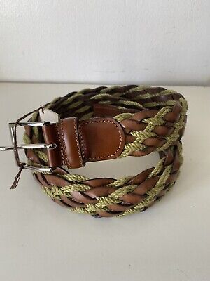 £40 • Buy Anderson's Weaved Men Leather Textile Blend Belt UK40 EU100 Made In Italy New