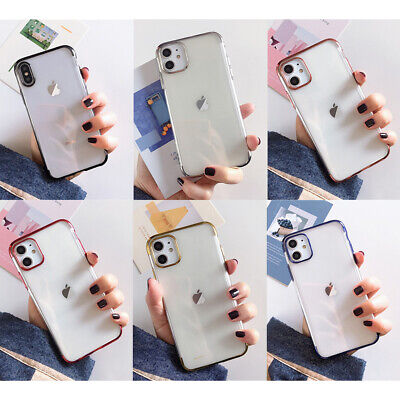 AU7.99 • Buy For IPhone 13 Pro Max 12 11 Pro XS XR 8 7 Plus Clear Case Rubber Soft TPU Cover