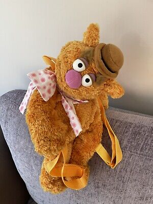 £24.99 • Buy FOZZIE BEAR Plush Soft Toy Bag Backpack Rucksack DISNEY STORE The Muppets Tan