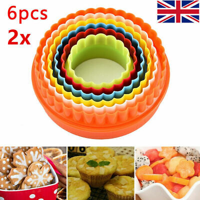 £6.97 • Buy Round Circular Cutter Fluted Grooved Baking Pastry Double-sided Cookie Cutters