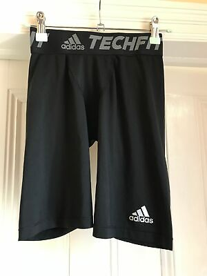 £4.99 • Buy Adidas Techfit Climalite Skins Shorts Age 11-12 Black - Excellent Condition