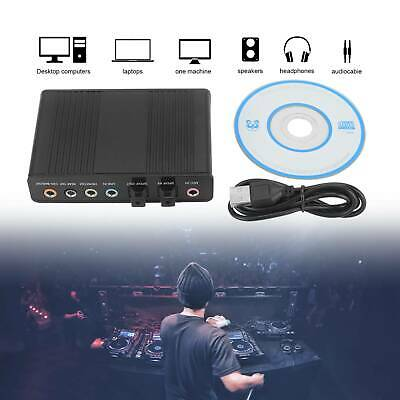 £11.99 • Buy USB 6 Channel 5.1 External SPDIF Optical Digital Sound Card Audio Adapter For PC