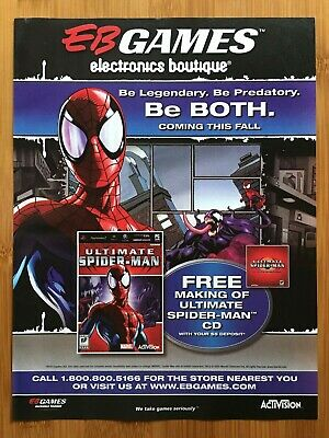 £10.96 • Buy Ultimate Spider-Man PS2 Xbox Gamecube 2005 Print Ad/Poster Official Art Venom
