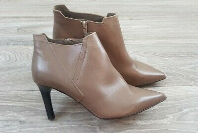 £15 • Buy Autograph M&S Taupe Grey Leather High Heeled Ankle Boots 6.5 40 Worth 59£