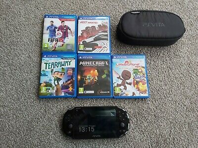 £62 • Buy PS Vita Console(PCH-2003) With 5 Games, Case And 8gb Memory Card - No Charger