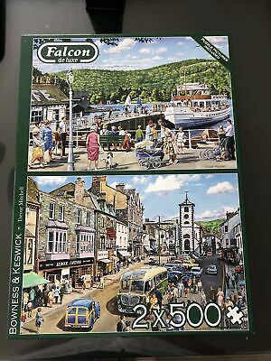 £0.99 • Buy Falcon De Luxe 2 X 500 Piece Jigsaws - Keswick And Bowness ONE PIECE MISSING
