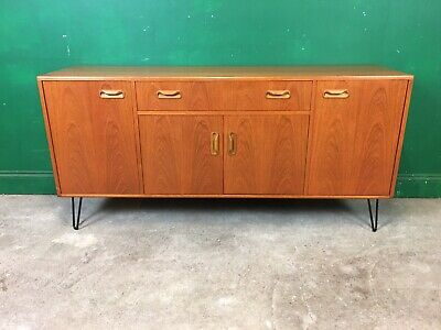 £225 • Buy G Plan Teak Retro Sideboard On Hairpin Legs. Courier Available