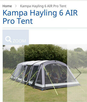 £800 • Buy Kampa Hayling 6 AIR Pro 6 Person Inflatable Tent - CT3115