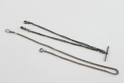 £0.99 • Buy 2 X Vintage .835, .925 Silver ALBERT WATCH CHAINS Inc. Dog Clips, Partial (31g)