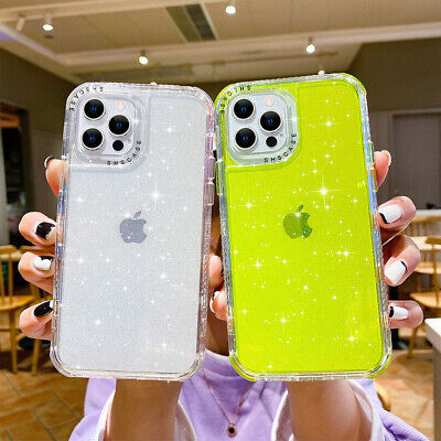 AU13.99 • Buy For IPhone 13 Pro Max 12 11 XS XR 8 7 Bling Glitter Shockproof Clear Case Cover