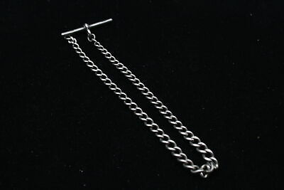 £0.99 • Buy Vintage .925 Sterling Silver PARTIAL WATCH CHAIN W/ T-Bar, Graduated (18g)