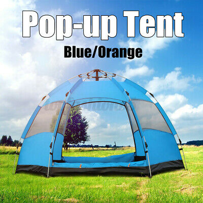 AU43.29 • Buy 5 Person Automatic Quick Open Camping Hiking Outdoor Tent UV Protect Waterproof