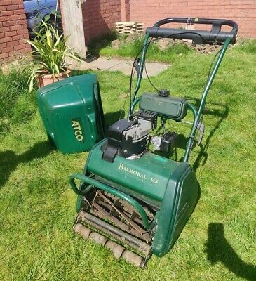 £350 • Buy Atco Balmoral 14S Petrol Cylinder Lawn Mower - Recently Serviced So Perfect Cond