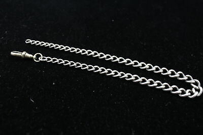 £0.99 • Buy Vintage .925 Sterling Silver PARTIAL WATCH CHAIN W/ Dog Clip, 29.5cm Long (21g)