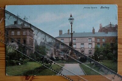 £2.99 • Buy Nelson Square Bolton Colour Postcard Posted 1903
