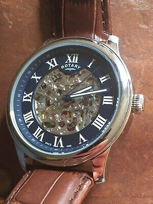 £64 • Buy Rotary Mens Skeleton Automatic Watch BRAND NEW! GS00625/05 Rrp £199