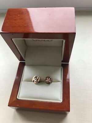 £180 • Buy Clogau Gold 'Tree Of Life' Earrings Yellow And Rose Gold Stud - VGC