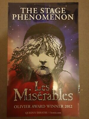 £7 • Buy Les Miserables The Musical Phenomenon Queens Theatre Poster