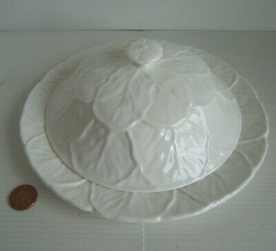 £4.25 • Buy Rare Coalport Countryware Muffin Cover & 8  Plate - White Cabbage Leaf