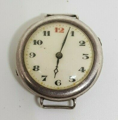 £3.20 • Buy Vintage Men's Silver 0.925 Military Trench Mechanical Watch (spares Or Repair)