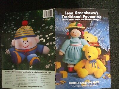 £3.99 • Buy Jean Greenhowe Traditional Favourites  Dolls  Soft Toy Knitting Pattern Book Vgc