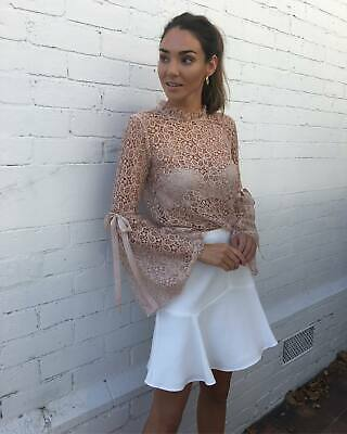 AU75 • Buy ALICE MCCALL  Just Lust  Beige Lace Womens Top 8