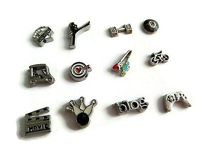 £1 • Buy Hobbies, Likes, Sports, Activities (b) Floating Charms For Glass Memory Lockets