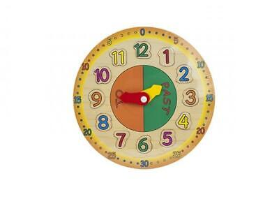 £9.95 • Buy WOODEN LEARNING CLOCK  Childs Learning Clock