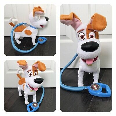 """£19 • Buy The Secret Life Of Pets 12"""" Talking Plush Max Electronic 'Buddy' Toy With Lead"""