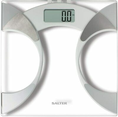 £19.99 • Buy Salter 9141 Wh3r Glass Body Fat Analyser Bathroom Scale
