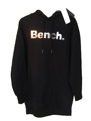 £20 • Buy BNWT Ladies Bench Oversized Black Hoodie Top Size Small