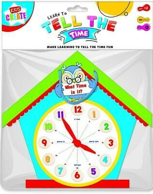 £3.95 • Buy Learn To Tell The Time Shaped Clock Educational Learning Tool Toy ECLO Last One
