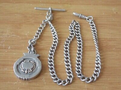 £26 • Buy Solid Silver Watch Chain With Fob