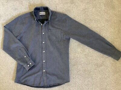 £12.99 • Buy Mens Barbour Shirt Herringbone Grey Tailored Fit, Size Small, Very Good Cond.