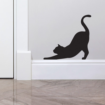 £2.99 • Buy Stretching Cat Skirting Board Bedroom Wall Art Stickers DIY Wall Decoration